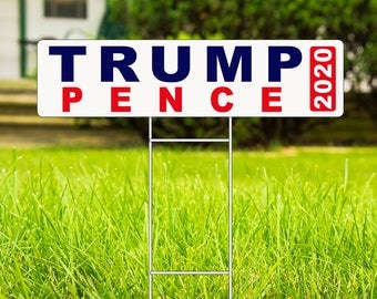 Donald Trump For President 2020 Campaign BOLD Outdoors Yard Sign 2 sided w/stake
