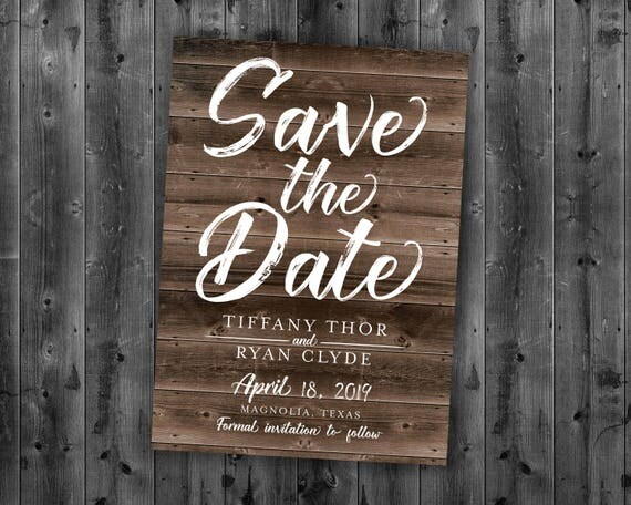 When Should Save The Dates Be Sent: Rustic Save The Date Cards Save The Date Postcard Lights