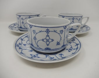 Set of three cups and under porcelain cups of Jager, free shipping