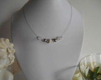 My precious metal grey wedding necklace