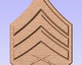USMC E-5 SGT rank in cedar