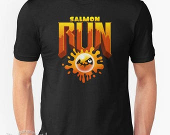 SplaDOOM - Splatoon x Doom mashup tee - Salmon Run