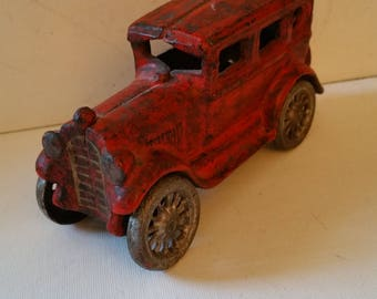 Cast iron red car