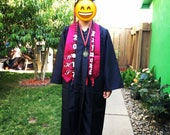 Graduation lei with name and year