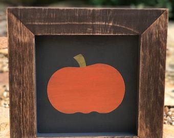 Rustic Framed Pumpkin Sign