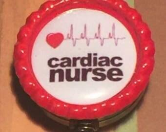 Cardiac Nurse Name Reel Retractable Badge Pull