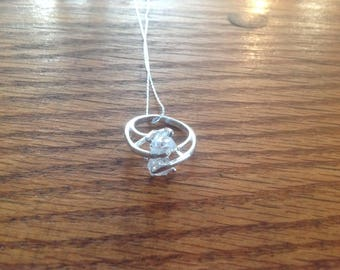 Herkimer Diamond ring necklace