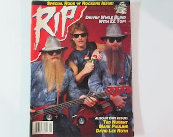 RIP Magazine January 1987 ZZ Top