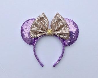 Rapunzel Disney Mickey Minnie Mouse Ears headband