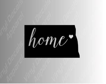 North Dakota home state die cut vinyl decal sticker for car, laptop, yeti decal, etc..