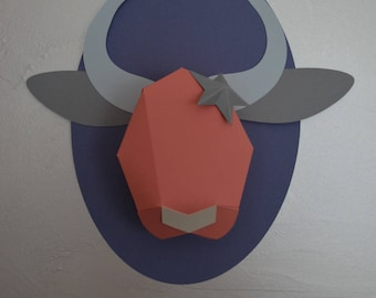 cow trophy personalized diy decorating trend child/baby