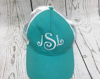 Monogrammed Trucker Hats, Bridesmaid gifts, Sorority Hats, Trucker Hat, Baseball cap, Snap back trucker hat, monogrammed caps, gifts, caps
