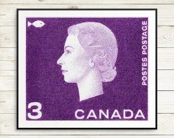 P063 Queen Elizabeth, Royal Portrait, Queen Portrait, Queen Cameo, Queen Elizabeth II, HRM Queen Elizabeth, Queen of Britain, Purple Art