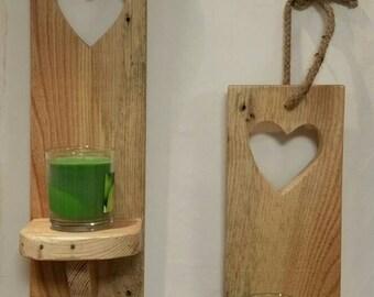 Set of 2 wall tea light holders