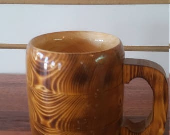 wooden coffee mug, 10 oz.