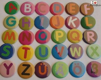 Alphabet set magnets-50mm Kit-Tackboards-bunt