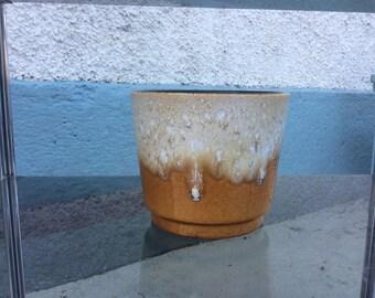 Scheurich planter 1970s Fat Lava West German pottery 806/17