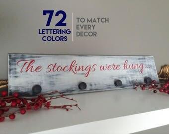 Christmas Stocking Holder, Stocking Hanger, Stocking Hooks, Stocking Holder, Stockings were hung, Christmas Stocking Hanger