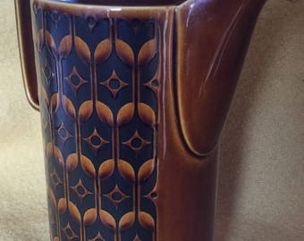 Hornsea Brown Heirloom  Coffee Pot  1970s