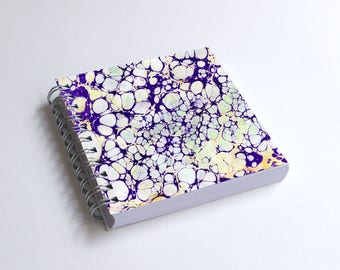 "Notebook 4x4"" decorated with motifs of marbled papers - 5"