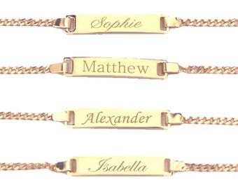 35% OFF* Gold Bracelet, Baby Bracelet, Baby Bracelet Personalized, 18K Gold Filled ID Bracelet, Baby Boy Bracelet, Baby Girl Bracelet