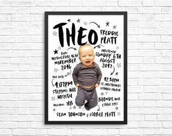 Personalised Baby Portrait / Nursery Print