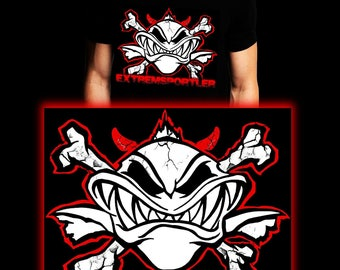 Extreme Sportsman Red | Waller | Carp | Catfish | Fishing T-shirt | S-3XL