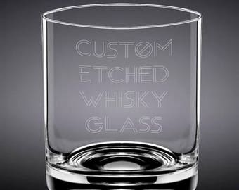 Custom Etched Whisky Glass