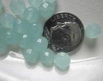 Faceted Aqua Quartz Beads, 6mm Round
