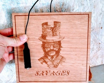 Foot Drum Cigar Box Lid Stompbox Electric Stomp Box The Wild Eyes by Rozegrave