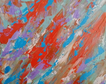 original abstract blue abstract red abstract bold colorful abstract modern abstract by RKMJCreations