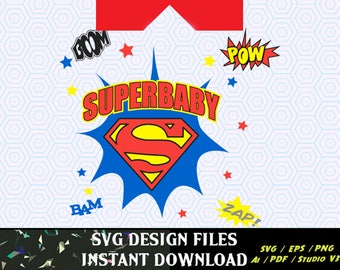 SuperBaby SVG Vinyl Cutting t-shirt design, for T Shirts, Cars Decals,  Super Hero SVG for Silhouette Cameo Cut Files,  SVG  T Shirt Design
