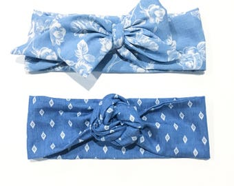 Headwraps, big bows, chambray, floral