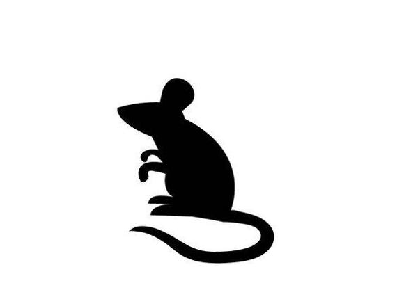 Pack Of 3 Mouse Stencils Made From 4 Ply Mat Board 16x20
