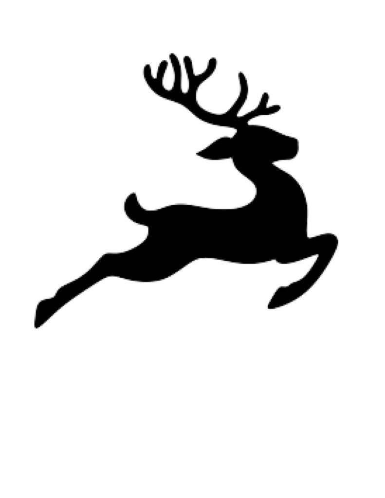 Pack Of 3 Flying Reindeer Stencils 16x20 11x14 And 8x10