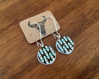 Southwestern earrings, geometric earrings, tribal earrings, festival earrings, chevron earrings, native american earrings, desert earrings