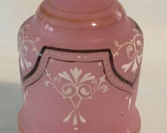 Antique Pink Satin Bristol Glass Vase