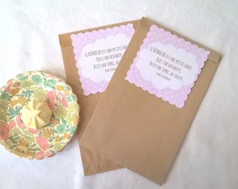 2 bags gift 21 x 12, happiness quote pink tags
