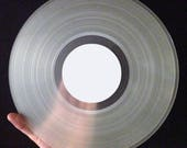 """Custom Vinyl 12"""" Record Two Sided- Clear"""