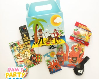 Children's Pre-filled Pirate Themed Party Boxes