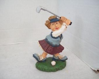 David Frykman The Golfer DF3084, 1998 Lady Golfer Golf Figurine Collectible J3 Free Shipping