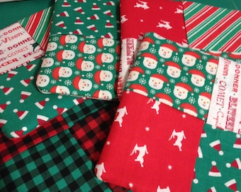 Quilted Hot Pads/Pot Holders Christmas