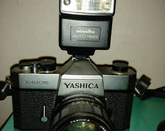 On Sale 1972 vintage Yashica TL-ELECTRO 35 mm analog SLR Camera