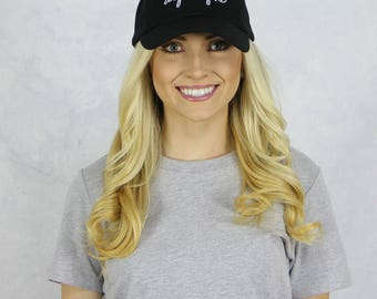 Alpha Phi Dad Baseball Hat in Black