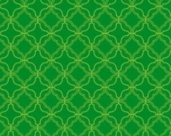 """Waverly Inspirations Green fabric - by the half yard - 45"""" wide, 100% cotton - St Patricks day fabric, holiday cotton, quilting fabric,"""