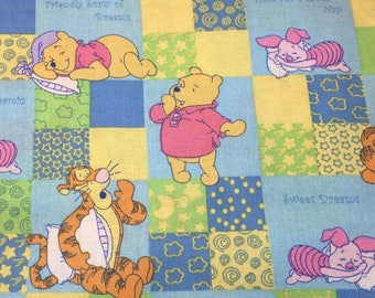 "Winnie the Pooh, sweet dreams of honey by Springs Creative, 43-44"" wide, 100% cotton, by the half yard, disney fabric, cartoon fabric"