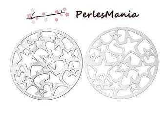 PRINTS watermark stars S66921 stainless steel 30mm round