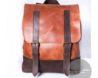Handmade backpack, mens rucksack, womens backpack, brown backpack, mens backpack, school backpack, travel backpack, leather backpack purse