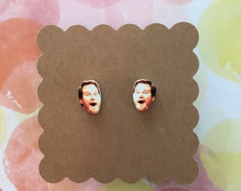 """Andy Dwyer/ Chris Pratt from """"Parks and Recreation"""" Stud Earrings"""