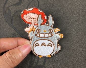 Totoro patch cartoon patch erbroidered patch iron on patches iron on patch sew on patch